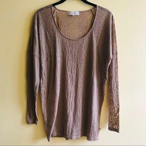 MICHAEL Michael Kors sheer tan snake print blouse